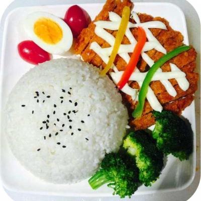 日式鸡扒拌饭